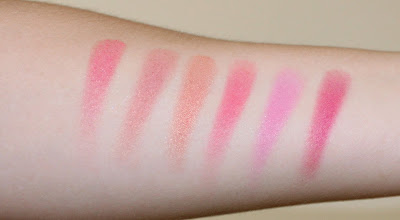 Too Faced Love Flush Blush Wardrobe Swatches