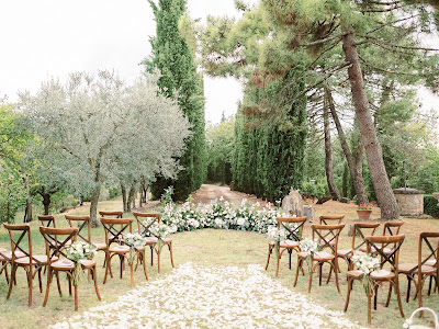in tuscany wedding