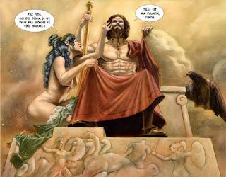 Zeus oblige Thétis à épouser Pelée
