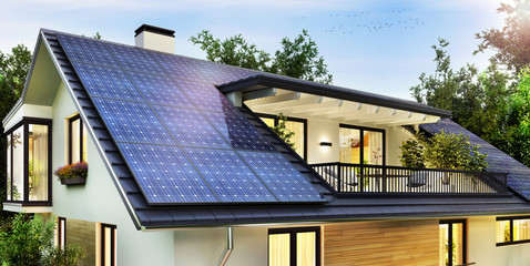 Solar Energy from sun light for home electricity