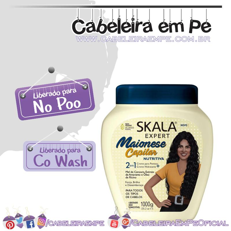 Creme de Tratamento Maionese Capilar Nutritiva - Skala (No Poo e co wash)
