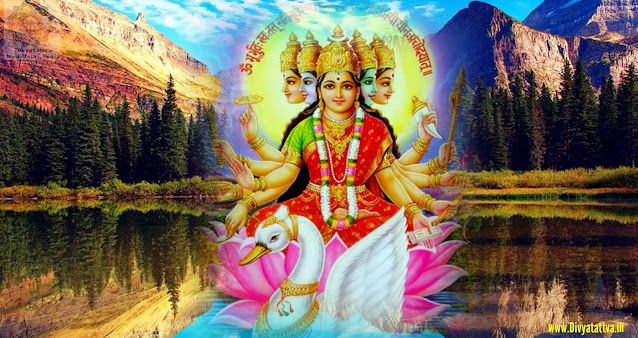 Gayatri Goddess 4K UHD Wallpaper
