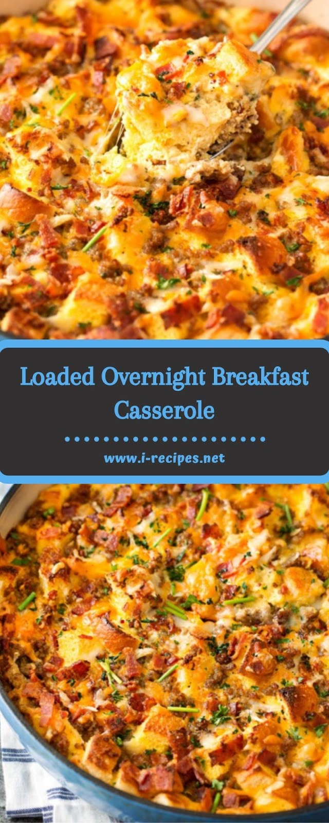 Loaded Overnight Breakfast Casserole