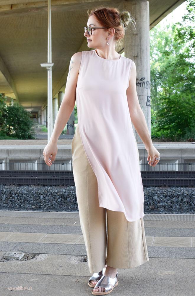 Sommer Outfit Idee für Ü40 Frauen, Chiffon Tunika