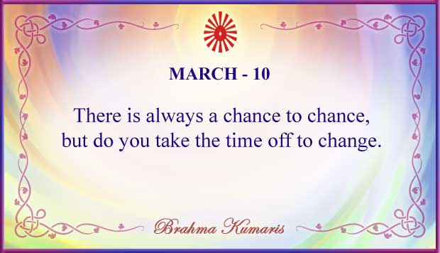 Thought For The Day March 10