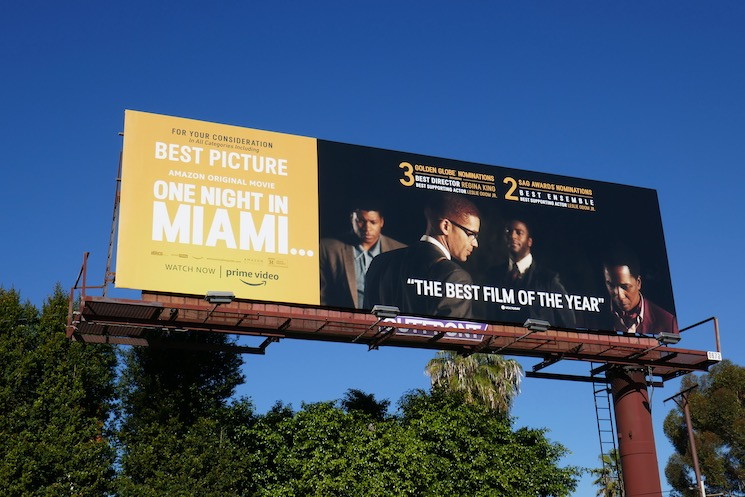 One Night in Miami nominee billboard