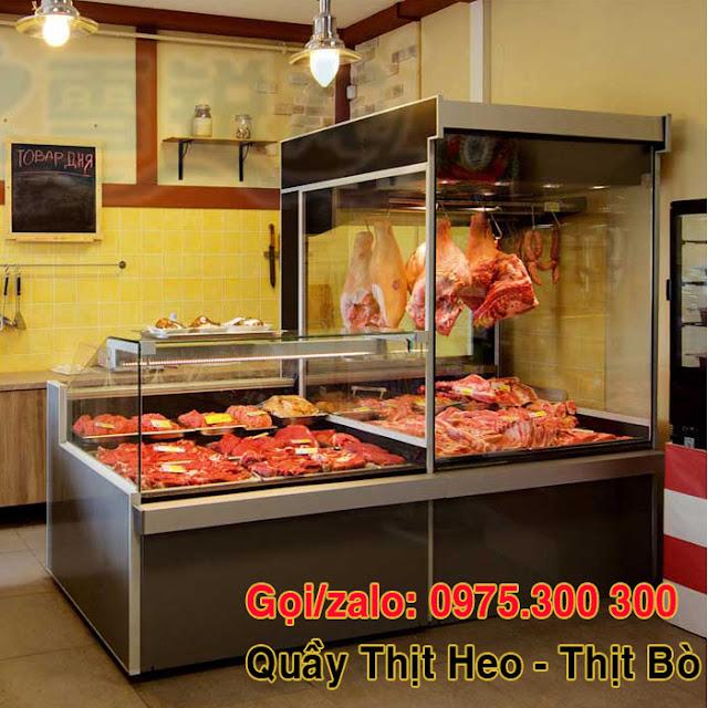 Tủ trưng bày thịt heo thịt bò