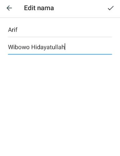 Edit nama telegram