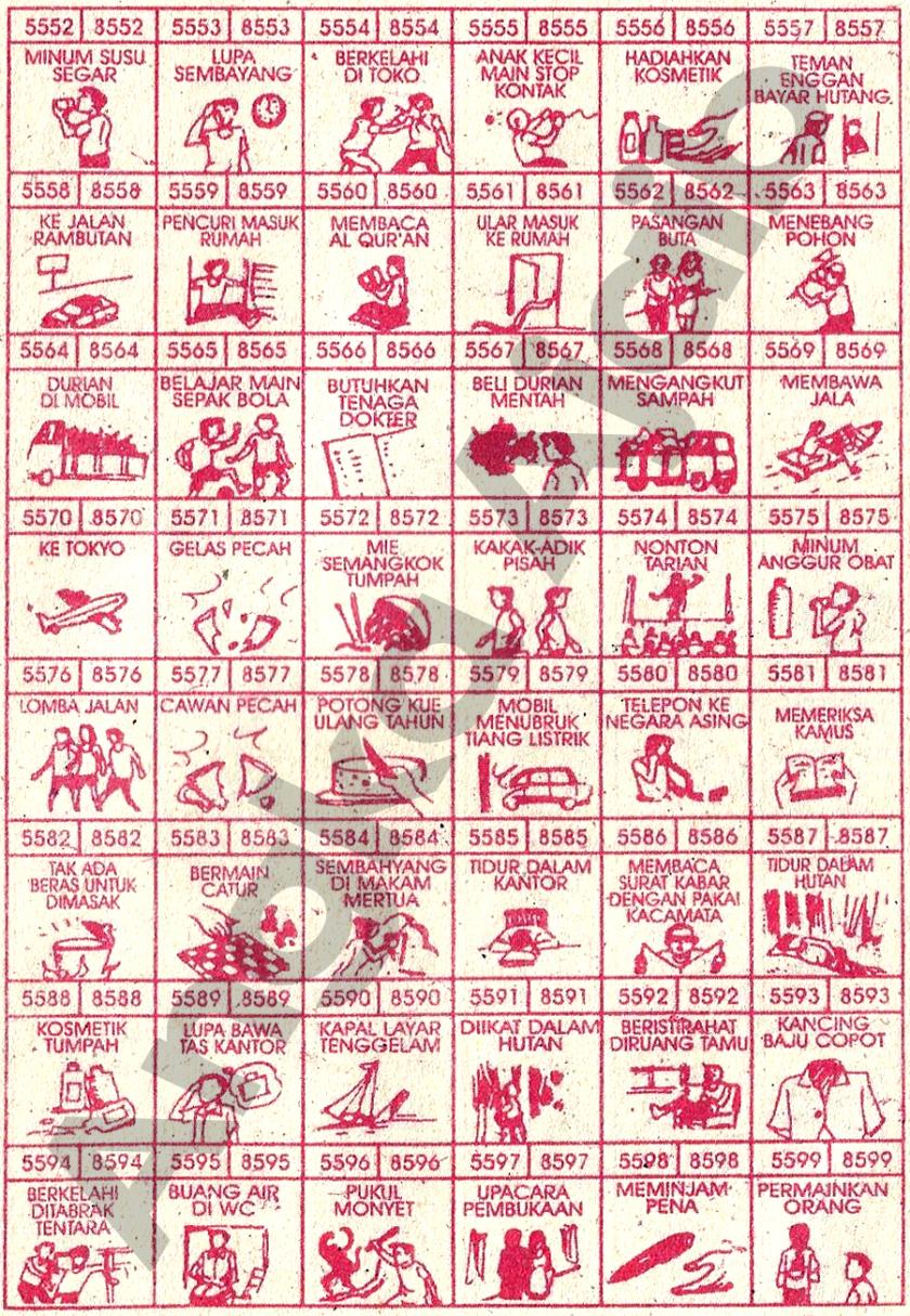 Buku Mimpi 4D Bergambar 5552-5599