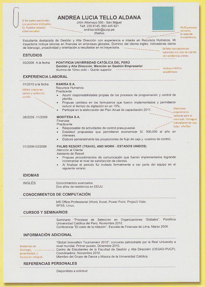 Rodrigo Riquelme Barros Como Hacer Un Buen Curriculum Vitae