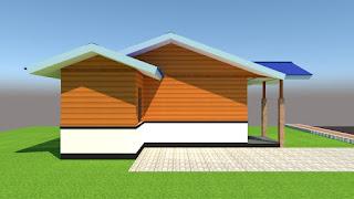 Studio Gambar Rumah: GAMBAR RUMAH SEMI PERMANEN TYPE 45 ...