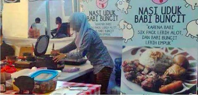 8 Fakta Menghebohkan Perempuan Berjilbab Penjual Nasi Babi