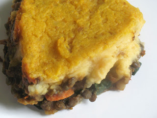 Curried Vegetarian Shepherd's Pie with Portobello Mushroom Sauce