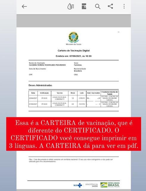certificado vacina covid