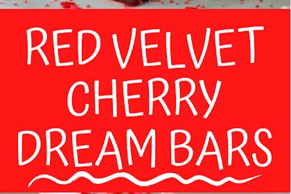 Red Velvet Cherry Dream Bars