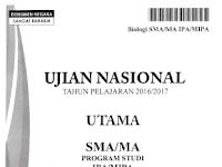 Kupas Tuntas Soal Ujian Nasional Mata Pelajaran Biologi SMA-MA Tahun 2016-2017