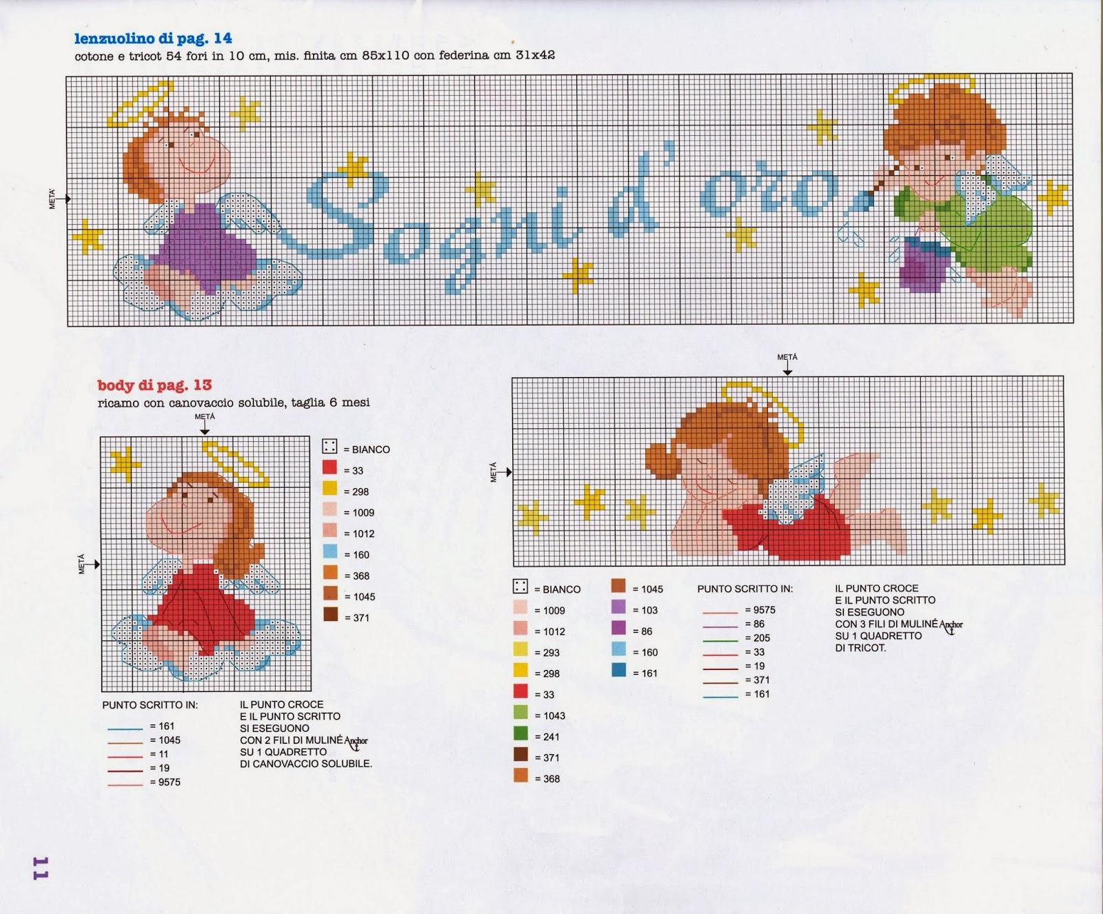 Ricami e schemi a punto croce gratuiti tanti schemi punto for Lenzuolini punto croce schemi