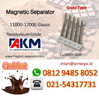 Magnet separator untuk coklat