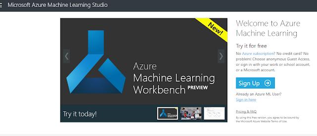 Figura 2: Accedemos a Azure ML Studio.
