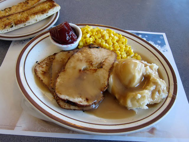 Denny's. You can also order an entire Thanksgiving dinner from Denny's, stuffing and all. If you want to avoid the stress of cooking a holiday meal or it's a Thursday in October and you want.