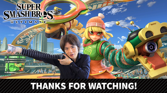 Super Smash Bros. Ultimate Masahiro Sakurai Min Min ARMS thanks for watching spring