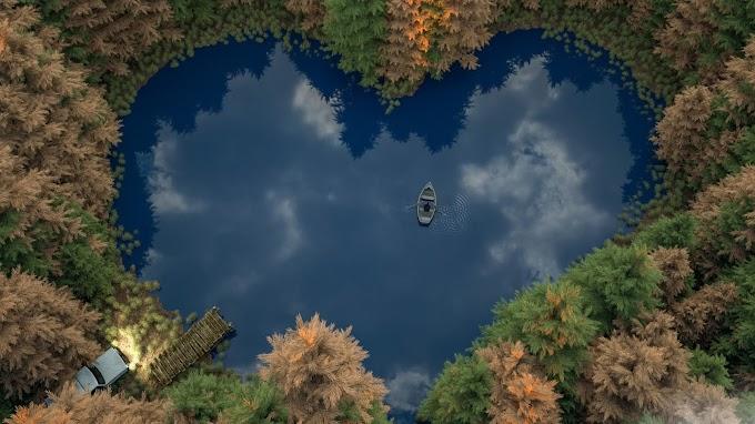 Floresta, Lago, Barco, Coração