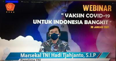 91.817 TNI dan 109 Rumah Sakit TNI Sukseskan Program Vaksinasi Nasional Covid-19