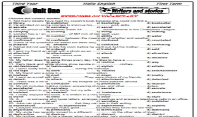 مذكرة تمارين وامتحانات للثانوية العامة روعة لا يخرج عنها اى امتحان- اعداد مستر بيومى غريب من موقع درس انجليزي