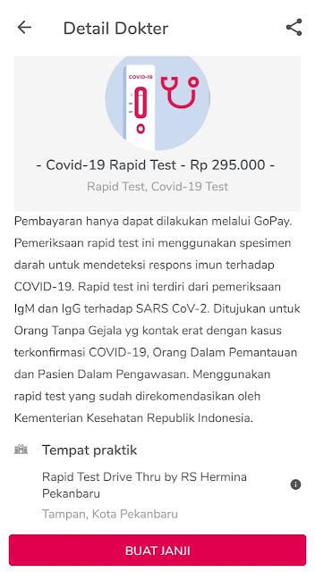 halodoc memberikan informasi harga untuk melakukan covid test