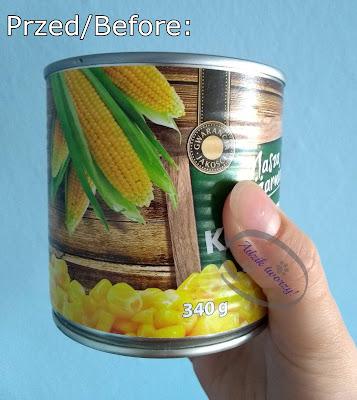 Adzik tworzy - świecznik DIY z puszki po konserwie