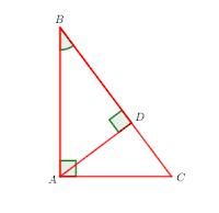 kesebangunan khusus dalam segitiga siku-siku