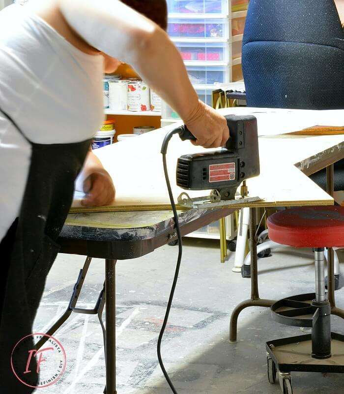 DIY Bistro Cafe Tabletop Jigsaw Cuts