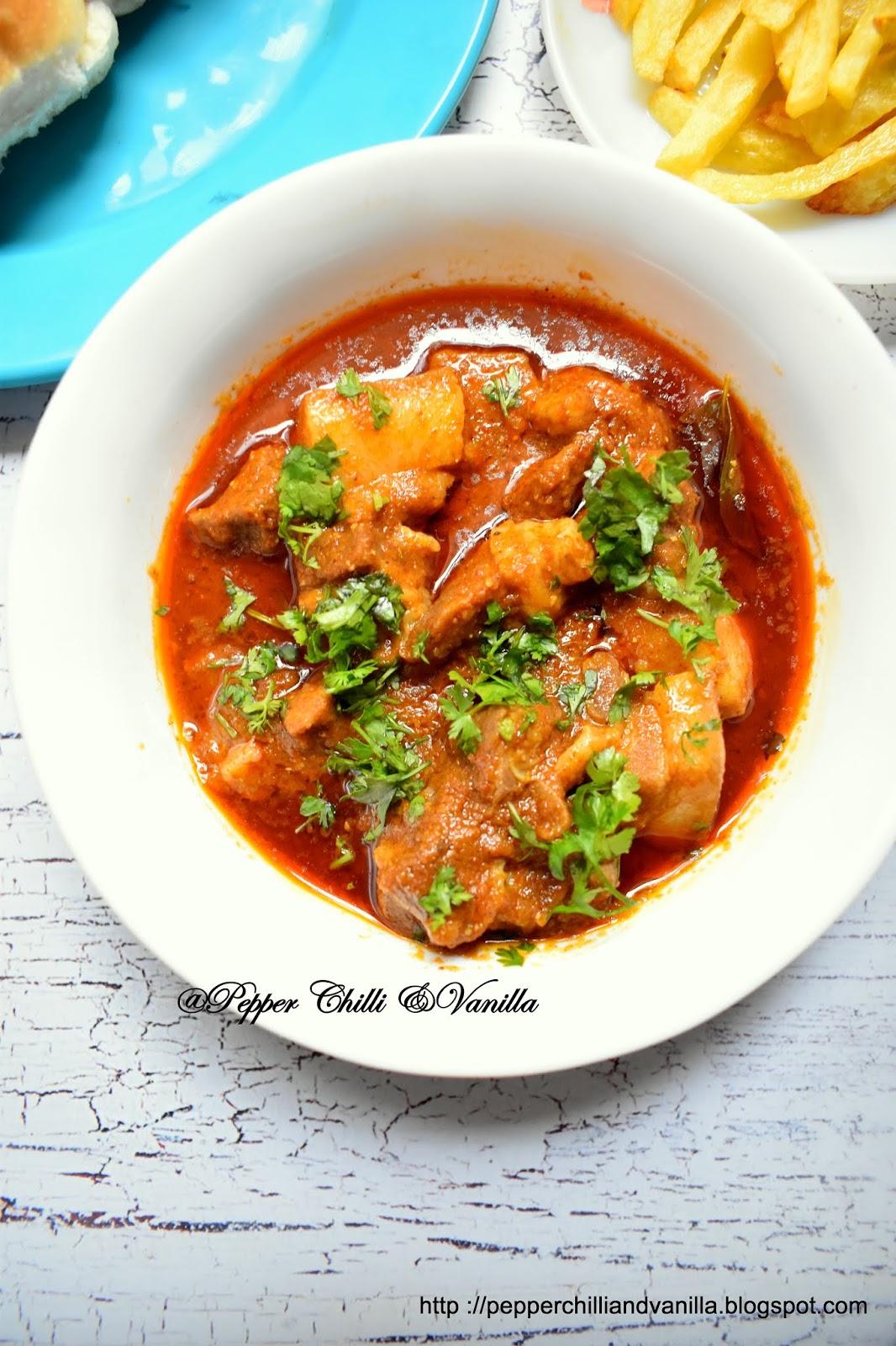 red pork curry ,easy pork curry