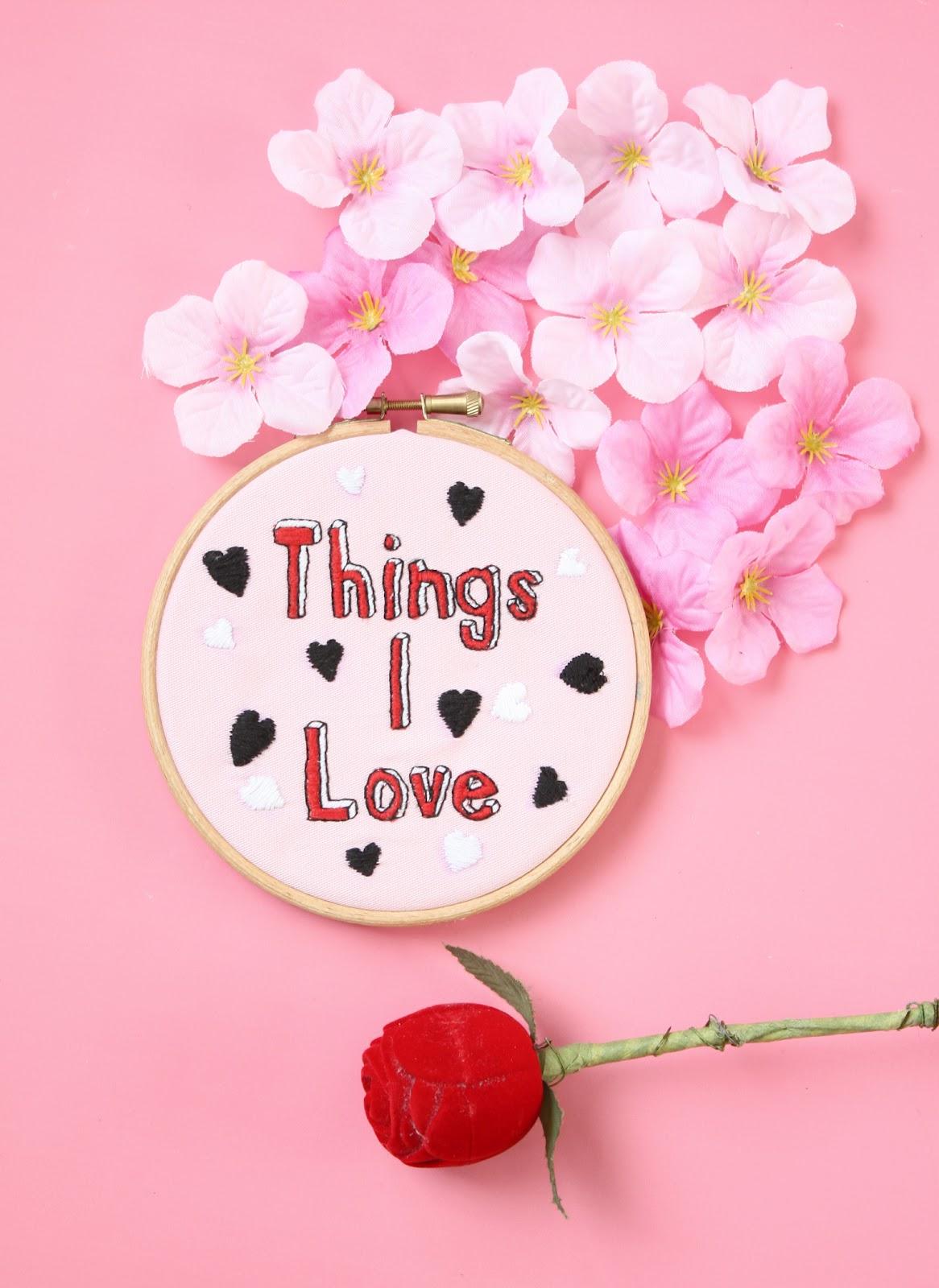 hand embroidery hoop art