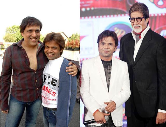 Rajpal Yadav with Govinda and Amitabh Bachchan
