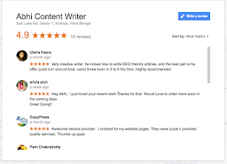 Content writing company review