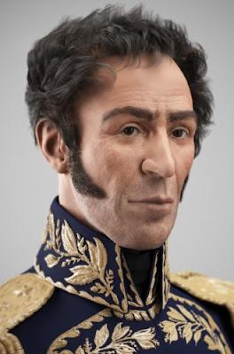 Imagen de Simón Bolívar en 3D