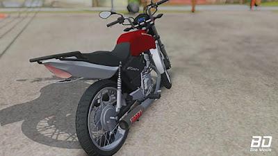 Honda CG 125 para GTA San Andreas - Traseira