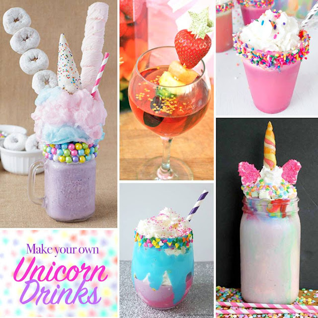 Make your own unicorn drinks at home!