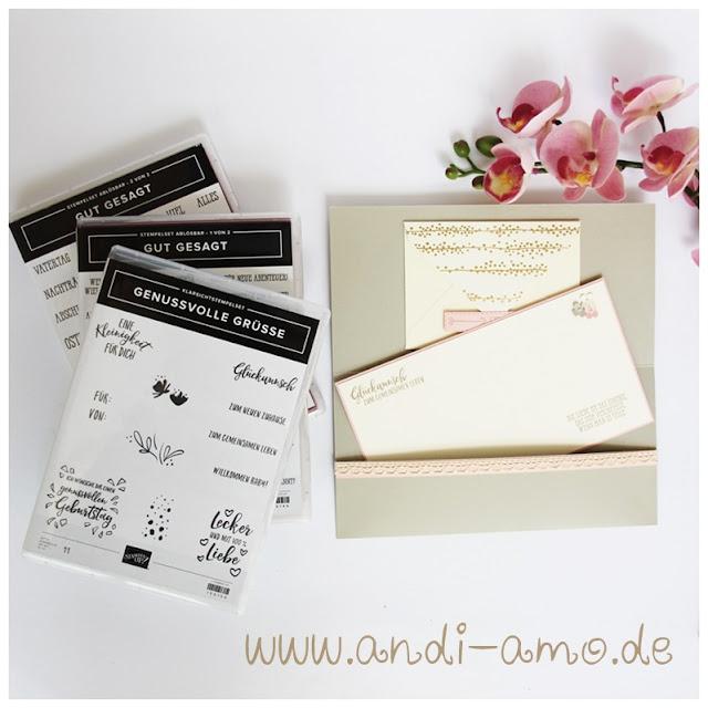 Stampin Up Karte zur Hochzeit Gut gesagt