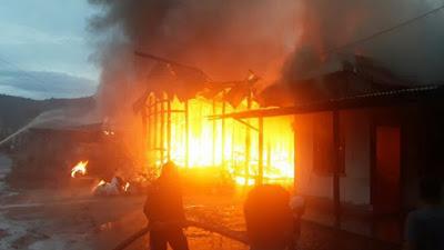 Lima Rumah di 2 Kecamatan di Taput Ludes Terbakar