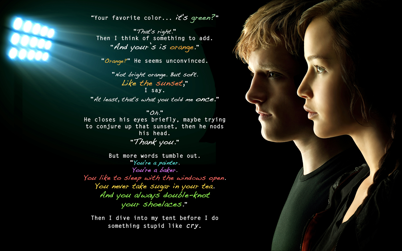 Hunger Games Trilogy Quotes in Pictures ~ The Hunger Games ...