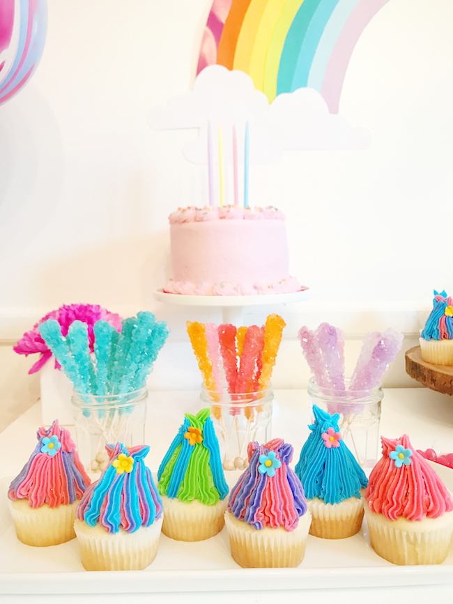 Easy Trolls Birthday Cake