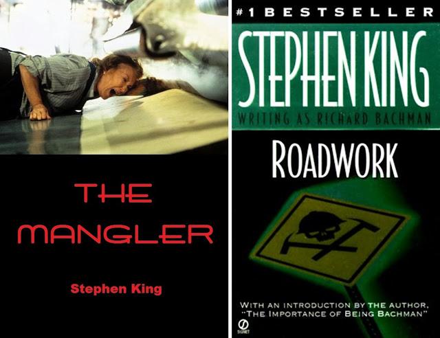 Stephen King - Biografia - Capa dos livros The Mangler e Roadwork