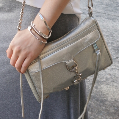 Rebecca Minkoff metallic silver mini MAC | AwayFromTheBlue blog