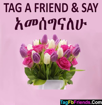 Thank you in Amharic language