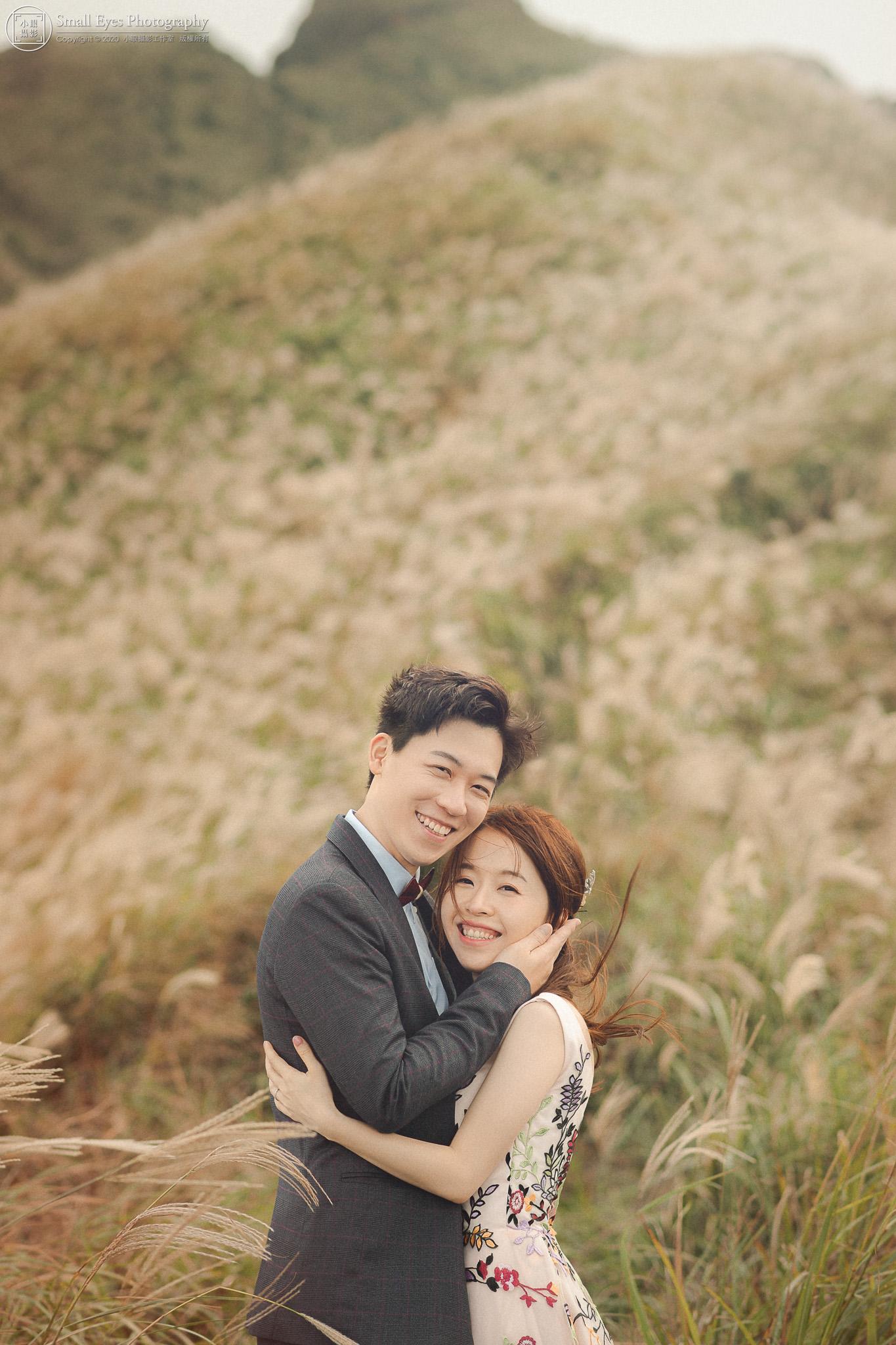 小眼攝影,自助婚紗,婚攝,婚紗攝影,新秘瓜瓜,吉兒婚紗,台灣,北部,北海岸,芒草,芒花