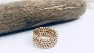 gold ball stacking rings, gold rings, solid gold rings, stackable rings, stacking rings
