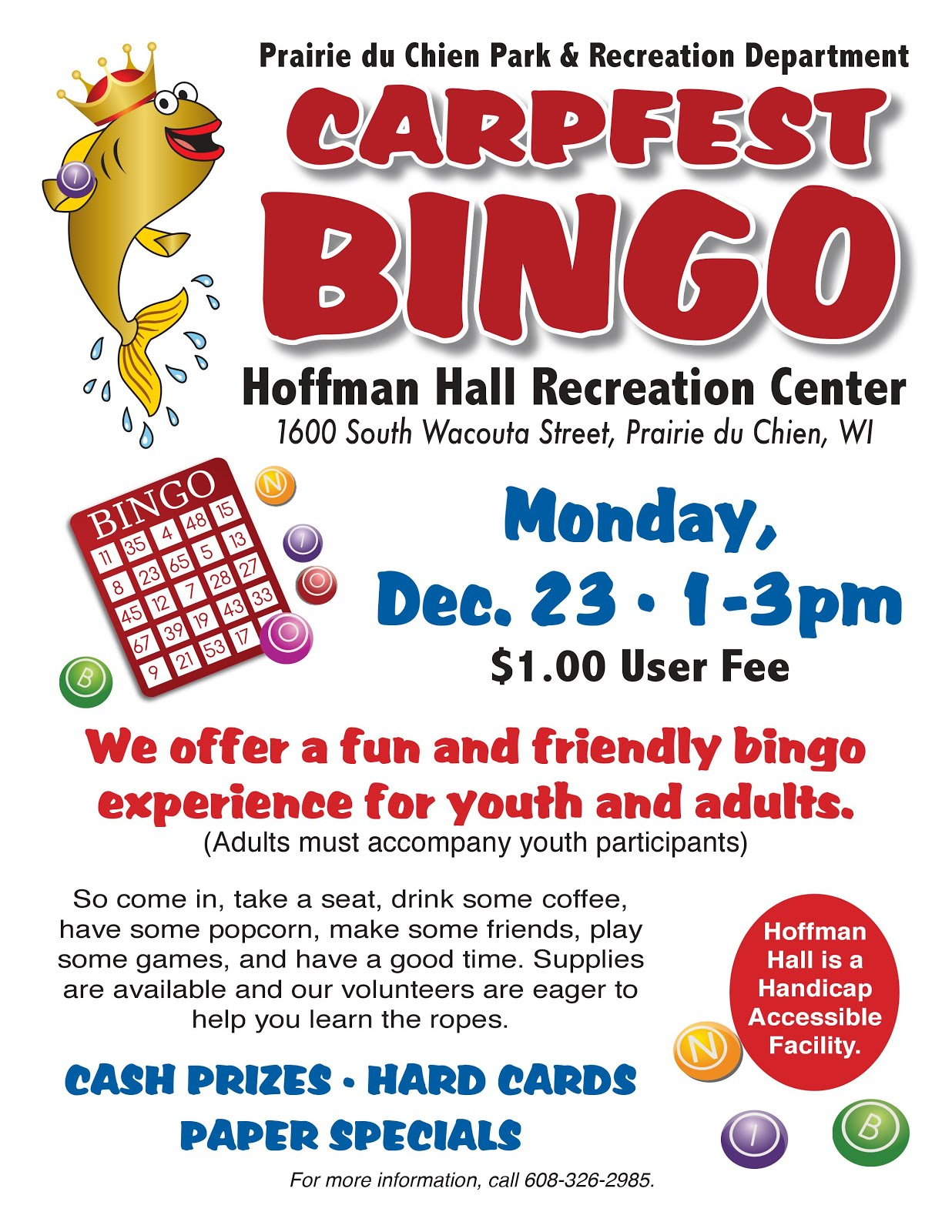 Bingo - Dec 23 1-3PM