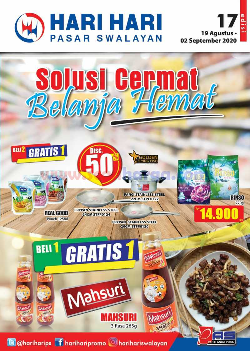 Promo Hari Hari Pasar Swalayan Katalog Mingguan 19 Agustus – 2 September 2020
